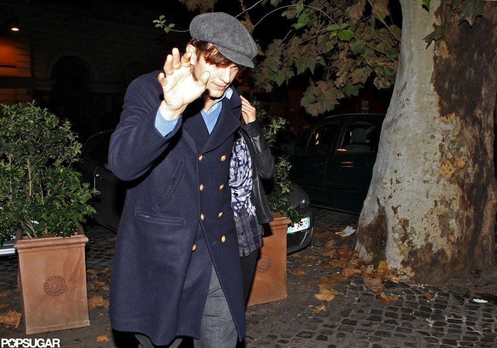 Ashton Kutcher and Mila Kunis went to dinner.