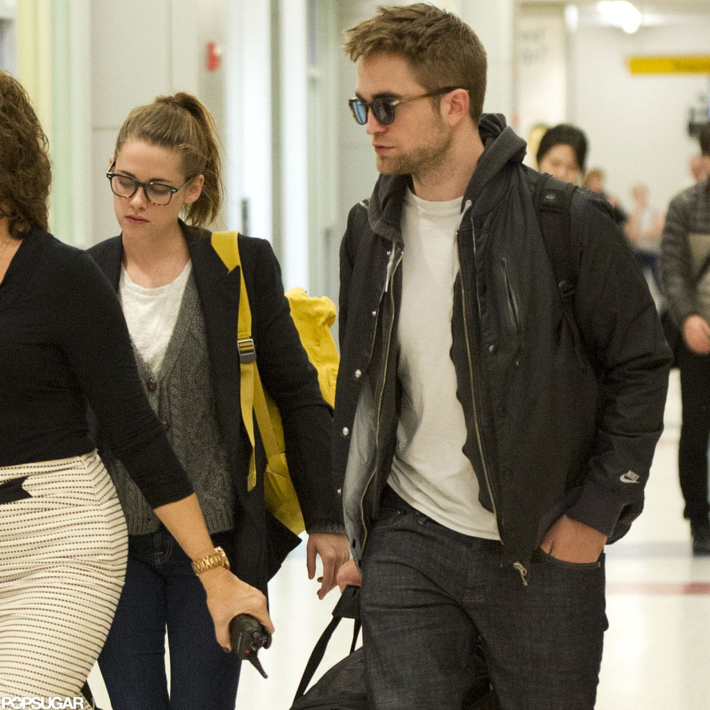 Kristen Stewart and Robert Pattinson traveled together from London.
