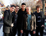 Boy band The Wanted were also at the Thanksgiving Day Parade.