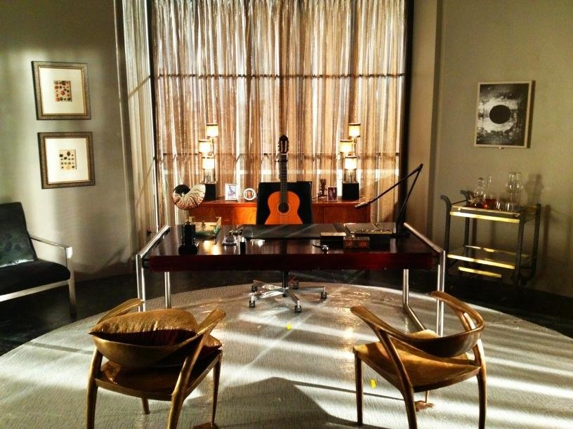 Terry O'Quinn tweeted a picture of his office from 666 Park Avenue. Source: Twitter user Terry O'Quinn