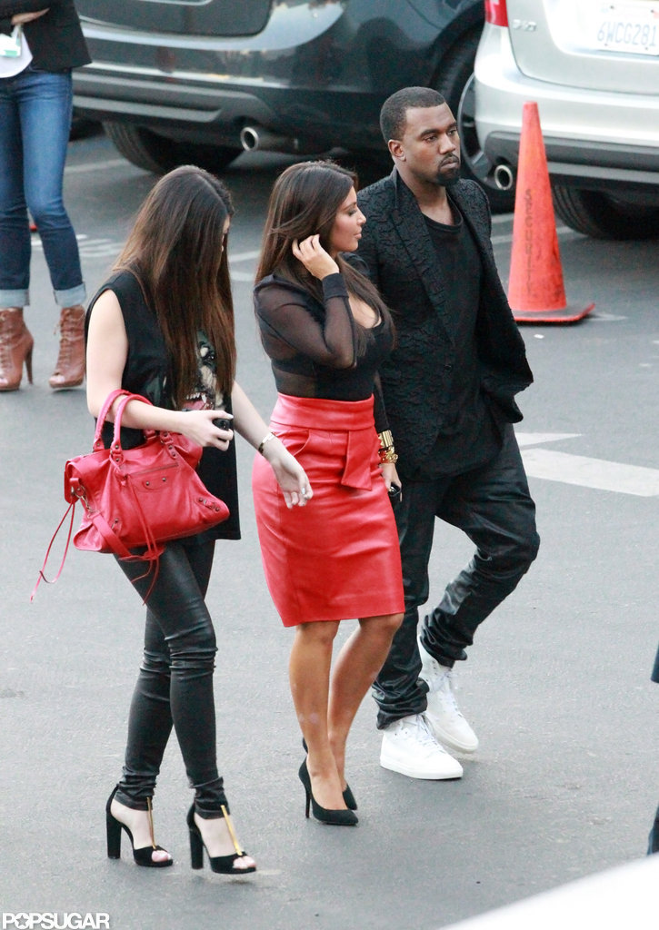 Kim Kardashian and Kanye West arrived at The X Factor.