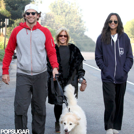 Bradley Cooper and his mom went for a Thanksgiving Day walk with Zoe Saldana.