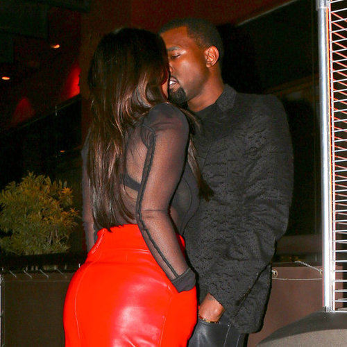 Kim Kardashian and Kanye West Kissing | Pictures