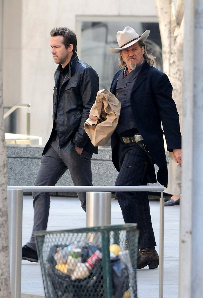 Ryan Reynolds and Jeff Bridges filmed RIPD in LA.