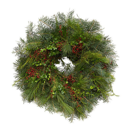 Fir & Rosehip Wreath in Gifts Holiday Market Living Gifts at Terrain