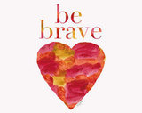 Warm colors come together for this Be Brave Watercolor Painting ($18).