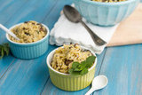 Portobello Orzo With Mint Cream Sauce