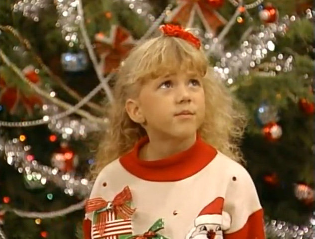 Stephanie Tanner in a Christmas Sweater