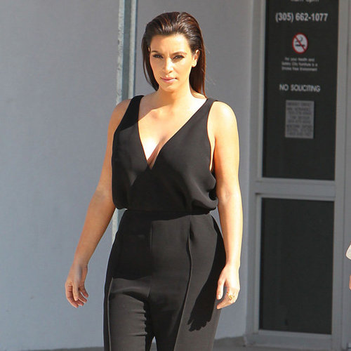 Kim Kardashian Wearing Black Jumpsuit
