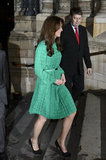 Kate Middleton wore black pumps for the London event.