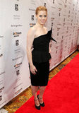 Amy Adams wore black at the Gotham Independent Film Awards in NYC.