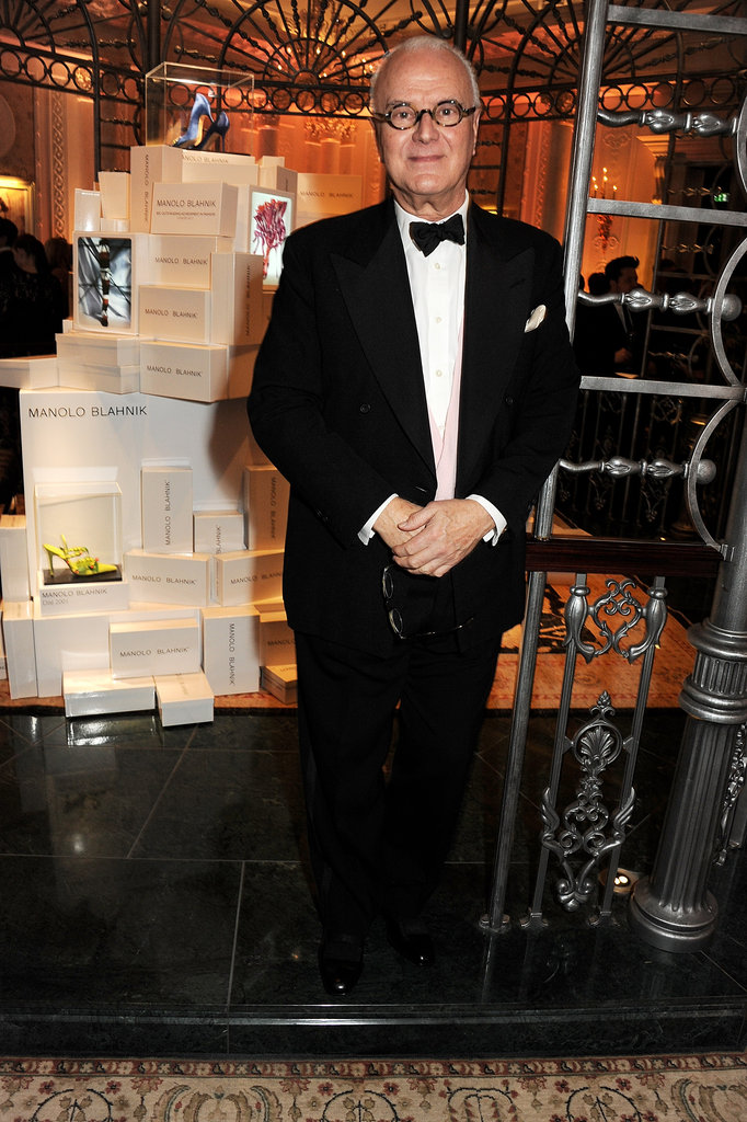 Manolo Blahnik was in attendance for the British Fashion Awards.