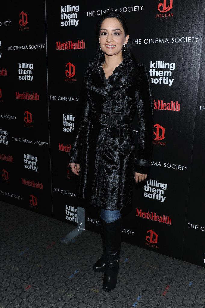 Archie Panjabi attended the screening of Killing Them Softly in NYC.