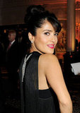 Salma Hayek gave a smile at the British Fashion Awards.