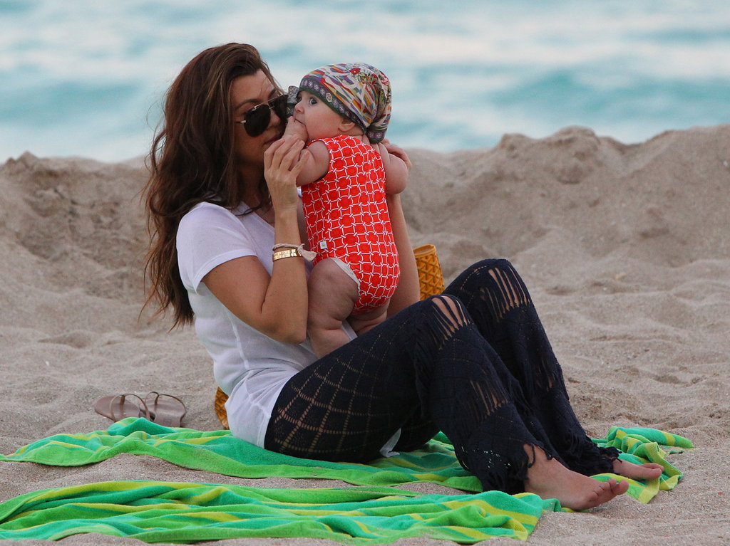 Kourtney Kardashian held onto Penelope.