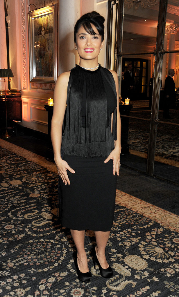 Salma Hayek attended the British Fashion Awards.