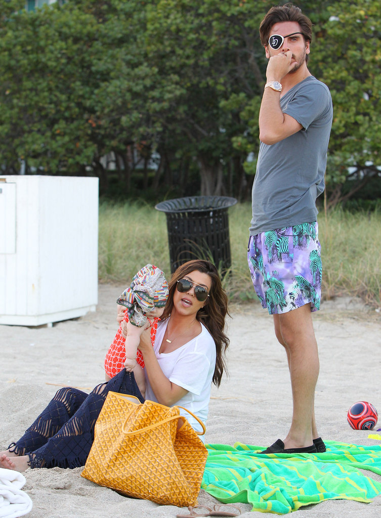 Scott Disick and Kourtney Kardashian went to the beach with Penelope.
