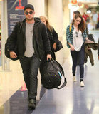 Robert Pattinson and Kristen Stewart carried their bags at LAX.
