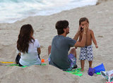 Kourtney Kardashian and Scott Disick hit the beach in Miami with their children.