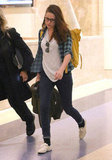 Kristen Stewart walked through LAX.
