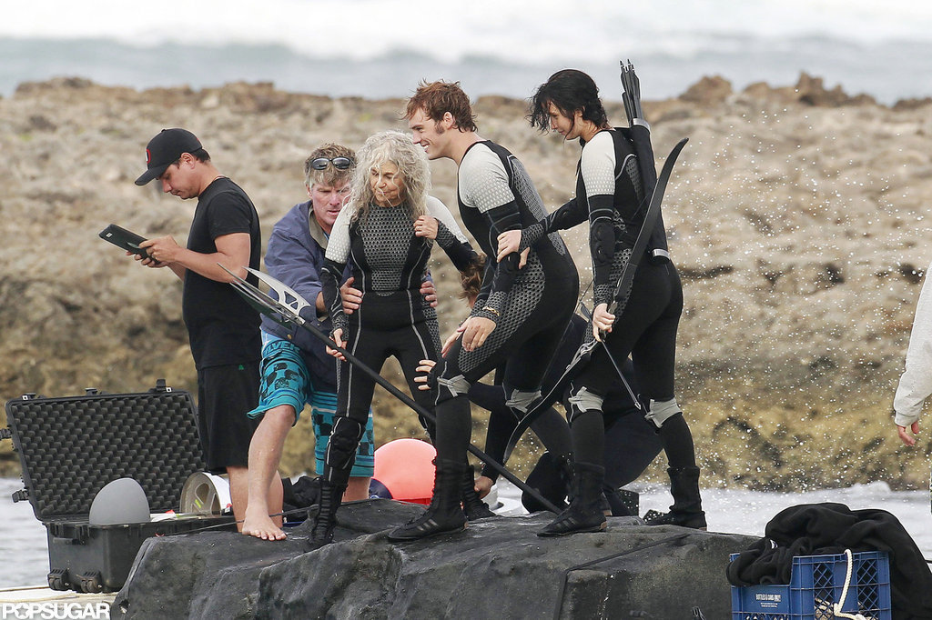 Jennifer Lawrence filmed for Catching Fire.
