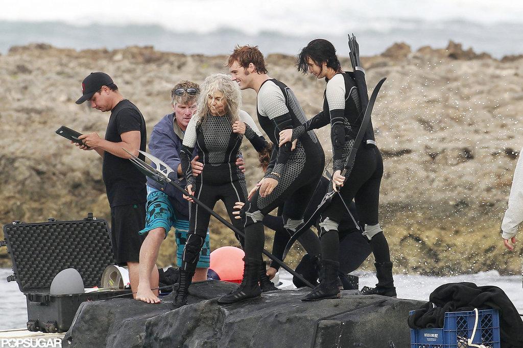 Jennifer Lawrence filmed for Catching Fire.