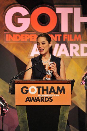 Marion Cotillard took home an honor at the Gotham Independent Film Awards in NYC.