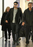 Robert Pattinson arrived at LAX.