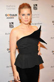 Amy Adams wore a black dress at the awards.