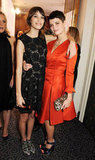 Alexa Chung had her arm around Pixie Geldof.