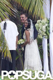 Chris Noth and Tara Wilson said their vows in Maui in April with their son, Orion, as the ring bearer.