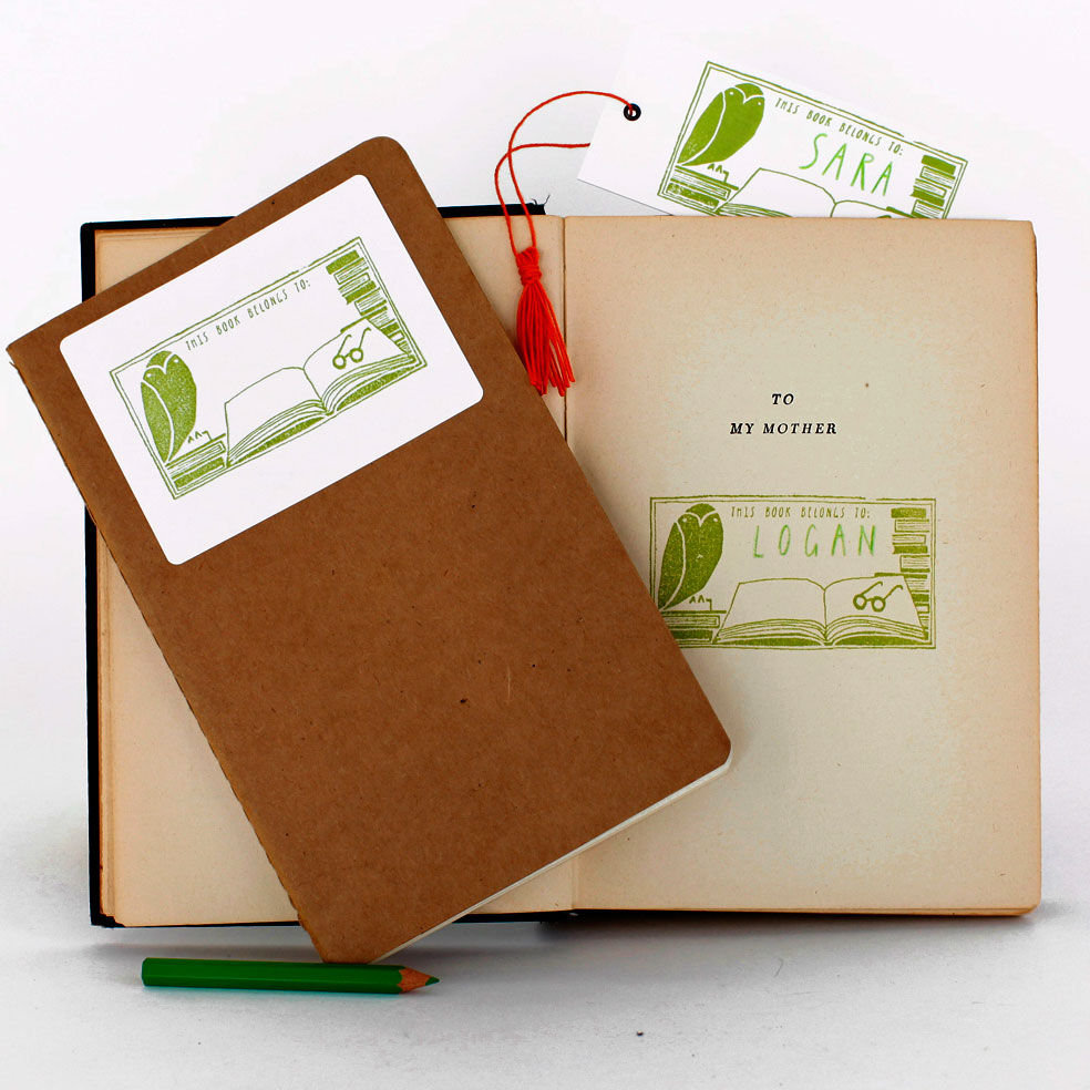 Help the bookworm in your life keep track of their beloved library with Yellow Owl Workshop's Book Plate Stamp Kit ($20).