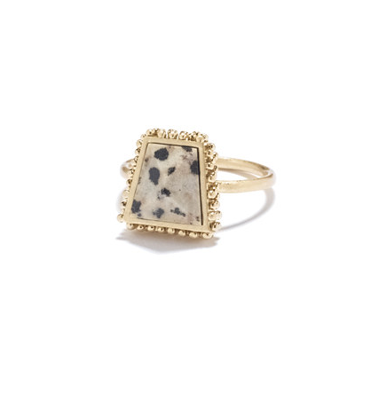 This Madewell Speckled Stone Ring ($22) is dainty and conversation-starting.