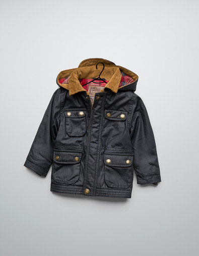Zara Wax Jacket With Hood