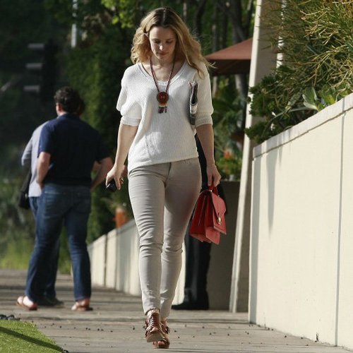 Rachel McAdams Carrying Red Bag
