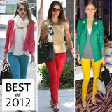 Biggest Celebrity Fashion Trend of 2012: Colored Denim
