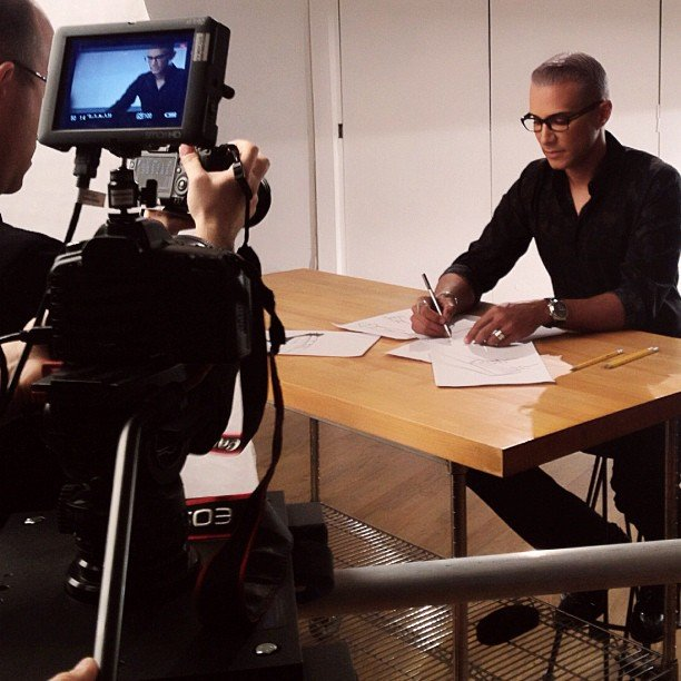 Jay Manuel put on his serious face filming a scene. Source: Instagram user mrjaymanuel