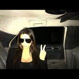 Kim Kardashian flashed a peace sign. Source: Instagram user kimkardashian