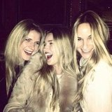 Rosie Huntington-Whiteley spent time with some girlfriends. Source: Twitter user RHW
