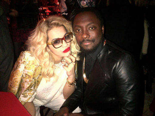 Rita Ora hung out with pal will.i.am. Source: Twitter user RitaOra