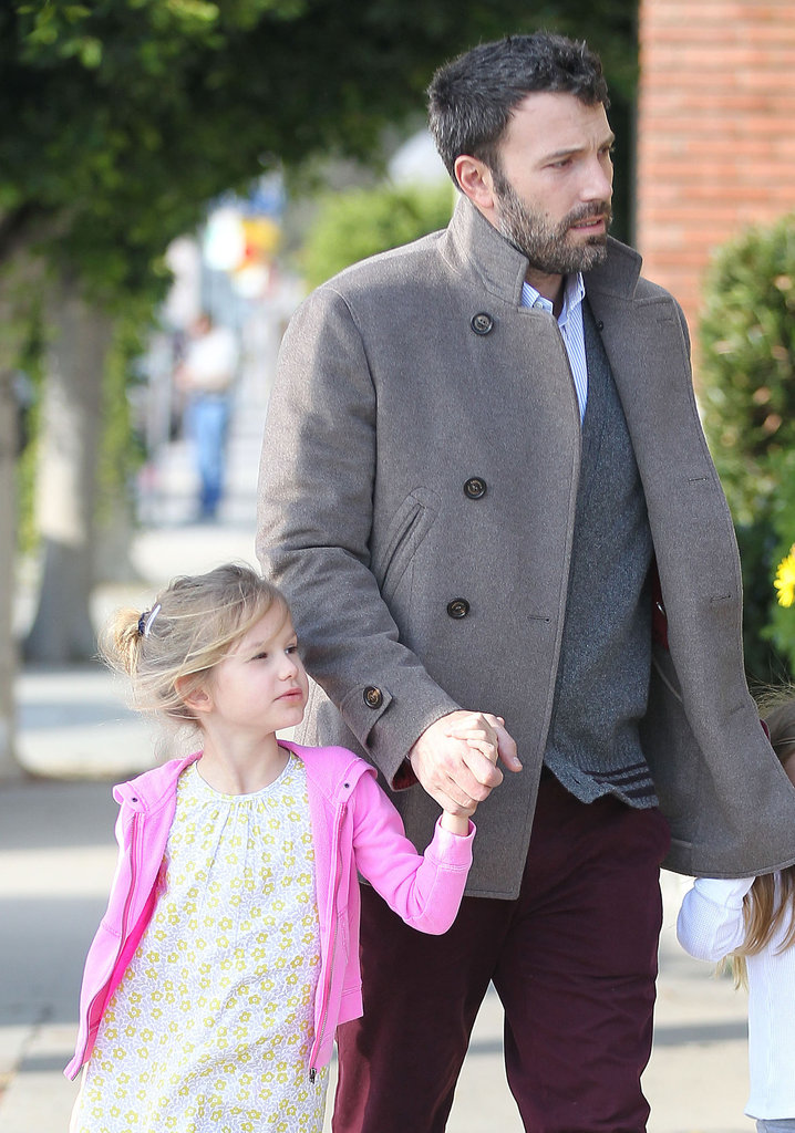 Ben Affleck walked with his daughter Violet in LA.