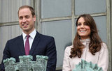 Prince William and Kate Middleton made an official visit to Cambridge together.