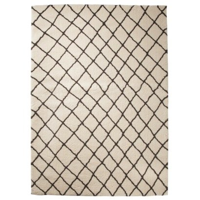 Threshold™ Criss Cross Fleece Rug - Gray : Target