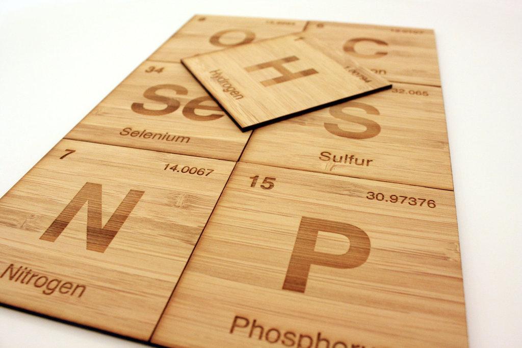 Non-Metals Bamboo Coasters
