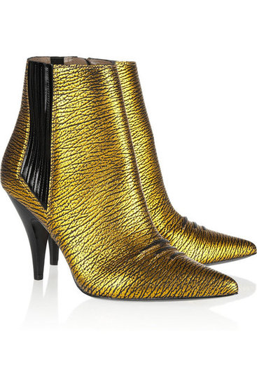 We're obsessed with Phillip Lim's Delia Chelsea boots ($375, originally $625) not just because of their metallic finish, but we also love the comfy, walkable heel.