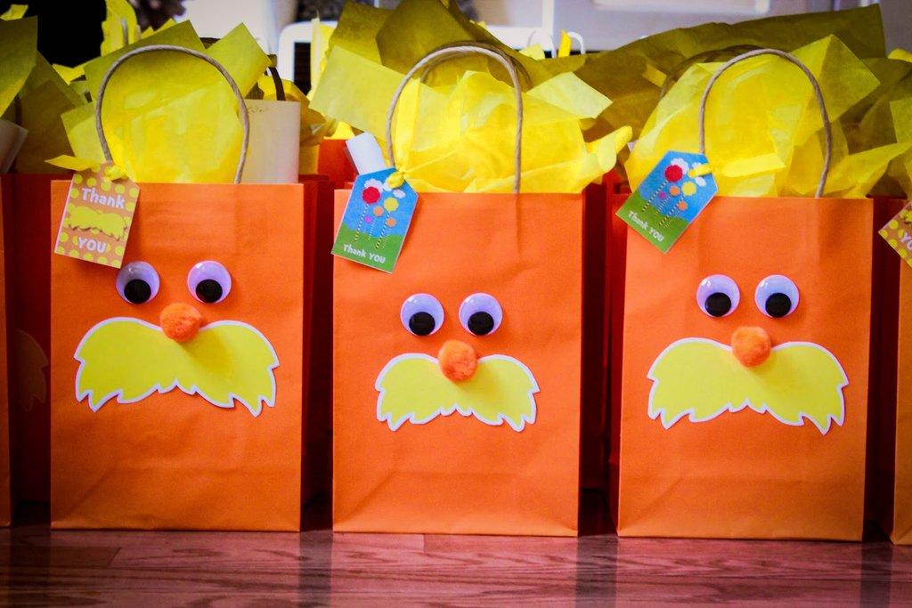 Lorax Favor Bags