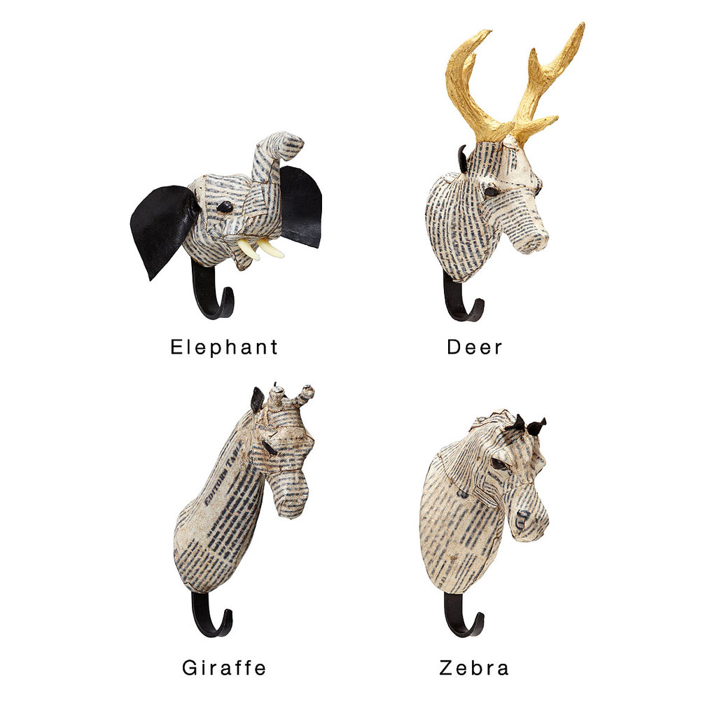 These paper-mache animal hooks ($48) are great alternatives if your friend lives a small apartment and doesn't have space for larger animal wall mounts or sculptures. Plus, they're ideal for storing a hipster staple: scarves.