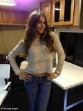 Sofia Vergara modeled a new sweater on the set of Modern Family. Source: Sofia Vergara on WhoSay