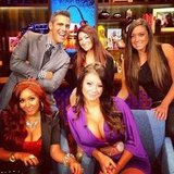 Andy Cohen got all the Jersey Shore women in one room and lived to tell the tale. Source: Instagram user bravoandy