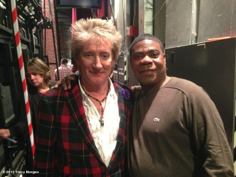 "Tracy Morgan ran into his ""cousin"" Rod Stewart around Rockefeller Center. Source: Tracy Morgan on WhoSay"